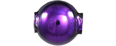 Kulatá 14 mm - lesk fialová ( 12 ks)