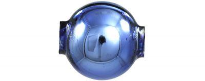 Kulatá 14 mm - lesk modrá ( 12 ks)