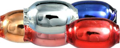 Žalud 7 mm - lesk směs barev (60 ks)