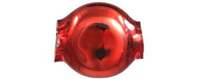Čočka 6mm - lesk červená (60 ks)