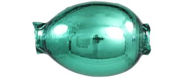 F427 Vajíčko - lesk zelená (1 ks)
