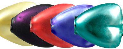 F200 Srdce - matná směs barev (12 ks)