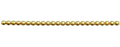 Kulatá 5 mm - lesk žlutá (12 ks, 24 perlí na klaučeti)