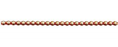 Kulatá 5 mm - lesk oranžová (12 ks, 24 perlí na klaučeti)