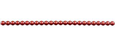 Kulatá 5 mm - lesk červená (12 ks, 24 perlí na klaučeti)