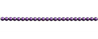 Kulatá 5 mm - lesk fialová (12 ks, 24 perlí na klaučeti)