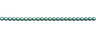 Kulatá 5 mm - lesk zelená (12 ks, 24 perlí na klaučeti)