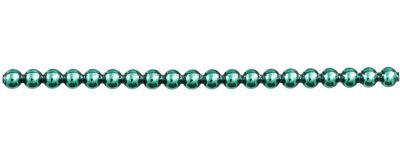 Kulatá 6 mm - lesk zelená (6 ks, 20 perlí na klaučeti)