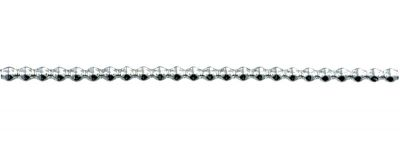Rauta 5 mm - stříbrná (12 ks, 24 perlí na klaučeti)