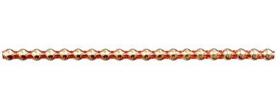 Rauta 6 mm - lesk oranžová (6 ks, 20 perlí na klaučeti)