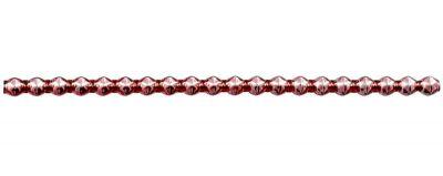 Rauta 6 mm - lesk růžová (6 ks, 20 perlí na klaučeti)