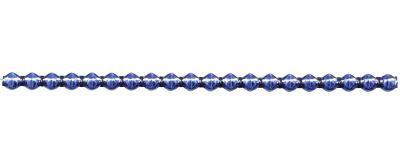 Rauta 6 mm - lesk modrá (6 ks, 20 perlí na klaučeti)