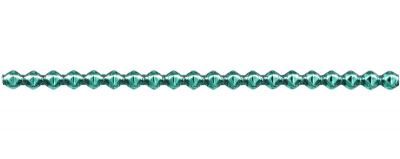 Rauta 6 mm - lesk zelená (6 ks, 20 perlí na klaučeti)