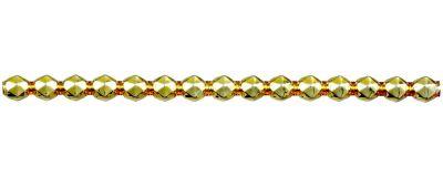 Rauta 8 mm - lesk žlutá (6 ks, 15 perlí na klaučeti)