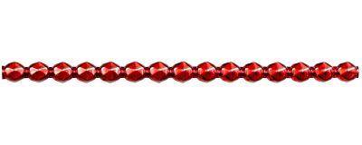 Rautia 8 mm - lesk červená (6 ks, 15 perlí na klaučeti)