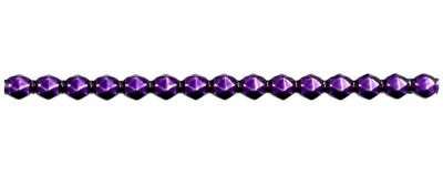 Rauta 8 mm - lesk fialová (6 ks, 15 perlí na klaučeti)
