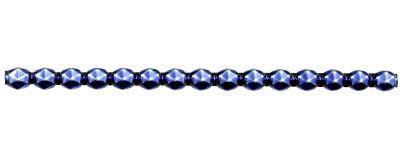 Rauta 8 mm - lesk modrá (6 ks, 15 perlí na klaučeti)