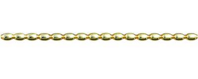 Žalud 7 mm - lesk žlutá (12 ks, 16 perlí na klaučeti)