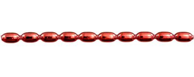 Žalud 11 mm - lesk červená (6 ks, 10 perlí na klaučeti)
