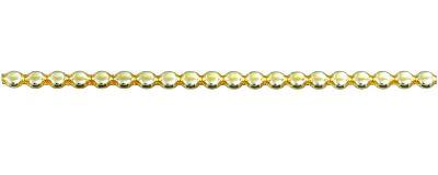 Čočka 6 mm - lesk žlutá (12 ks, 20 perlí na klaučeti)