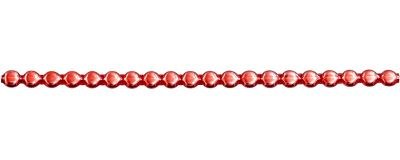 Čočka 6 mm - lesk červená (12 ks, 20 perlí na klaučeti)