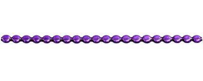 Čočka 6 mm - lesk fialová (12 ks, 20 perlí na klaučeti)