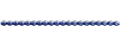Čočka 6 mm - lesk modrá(12 ks, 20 perlí na klaučeti)
