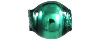 Kulatá 4 mm - lesk zelená (60 ks)