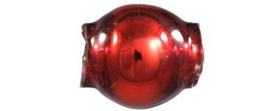Kulatá 4 mm - lesk červená (60 ks)