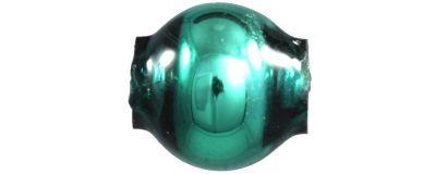 Kulatá 5 mm - lesk zelená (60 ks)