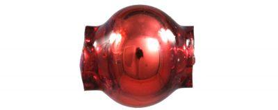 Kulatá 6 mm - lesk červená (60 ks)