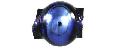 Kulatá 6 mm - lesk modrá (60 ks)