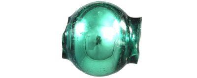 Kulatá 7 mm - lesk zelená (60 ks)