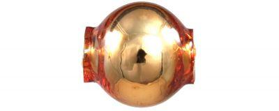 Kulatá 8 mm - lesk oranžová (60 ks)