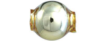 Kulatá 10 mm - lesk žlutá (30 ks)