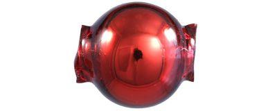 Kulatá 10 mm - lesk červená (30 ks)