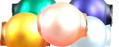 Kulatá 10 mm - mat směs barev (30 ks)