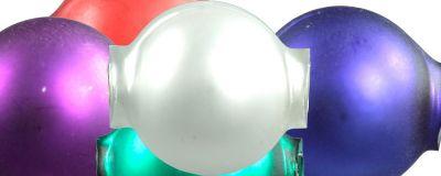 Kulatá 12 mm - mat směs barev (30 ks)