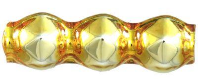 Rauta  trojánek 4 mm - lesk žlutá (60 ks)