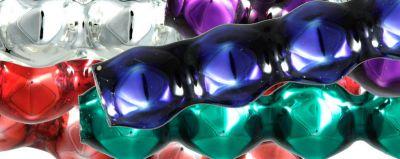 Rauta čtveránek 4 mm - lesk směs barev (60 ks)