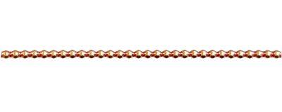 Rauta 4 mm - lesk  oranžová (12 ks, 30 perlí na klaučeti)