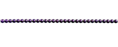 Rauta 4 mm - lesk  fialová (12 ks, 30 perlí na klaučeti)