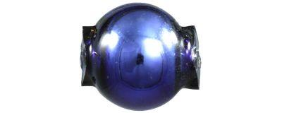 Kulatá 7 mm - lesk modrá (60 ks)