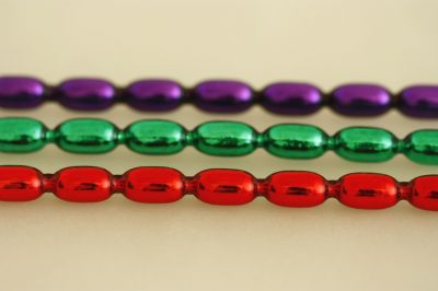 Žalud 11 mm - lesk směs barev (6 ks, 10 perlí na klaučeti)