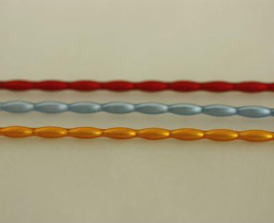 Oves 8 mm - matná směs barev (12 ks, 13 perlí na klaučeti)