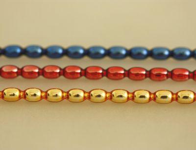 Žalud 7 mm - lesk směs barev (12 ks, 16 perlí na klaučeti)
