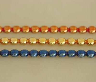 Čočka 6 mm - lesk směs barev  (12 ks, 20 perlí na klaučeti)