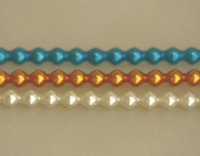Rauta 6 mm - matná směs barev (6 ks, 20 perlí na klaučeti)