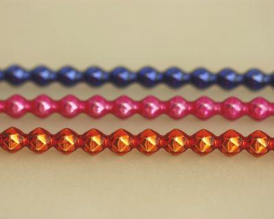 Rauta 6 mm - lesk směs barev (6 ks, 20 perlí na klaučeti)