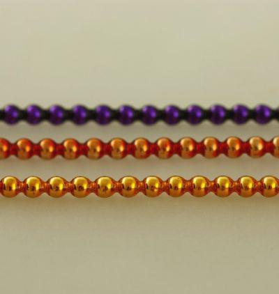 Kulatá 4 mm - Lesk - směs barev (12 ks, 30 perlí na klaučeti)
